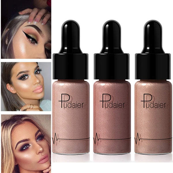Professional 12 Colors  Makeup Liquid Highlighter & Bronzer - neon-circle