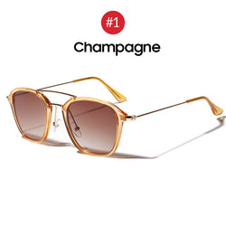 Vintage Women Square Sunglasses | UV400 - neon-circle