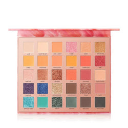 FOCALLURE 30 Colors  High Quality Glitter Matte Eyeshadow Palette - neon-circle