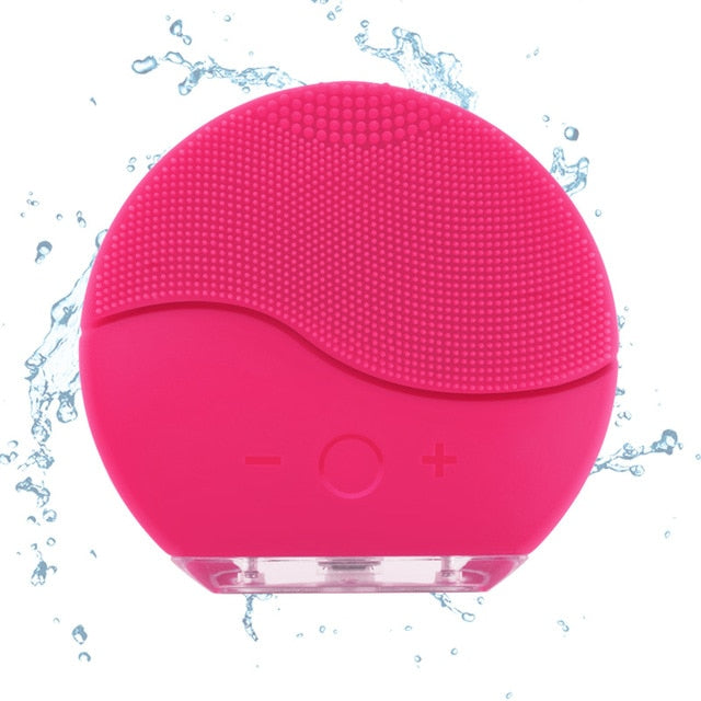 Face Cleaning Brush | Silicon | Hot Deal - neon-circle