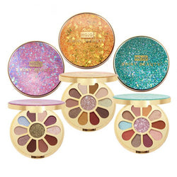 Shiny Beauty 11 Colors Eyeshadow Palette - neon-circle