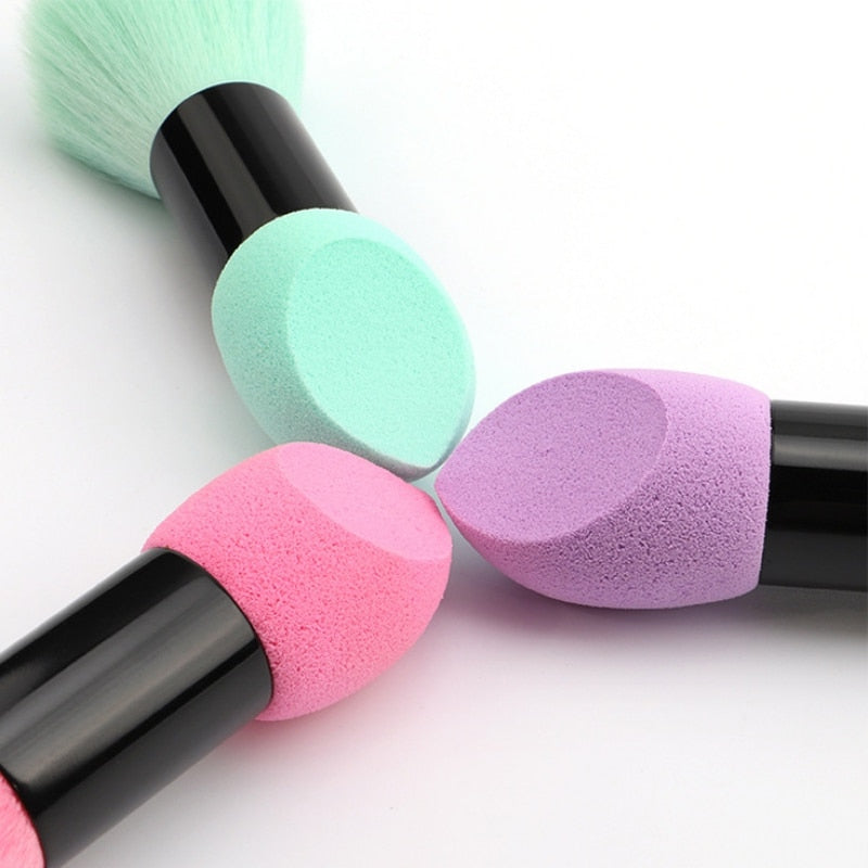 Double Head blusher Brush | Miss Rose - neon-circle