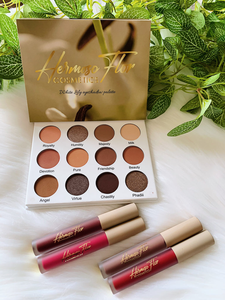 White Lily Eyeshadow Palette + 1 Lipstick combo (Pre-Order)