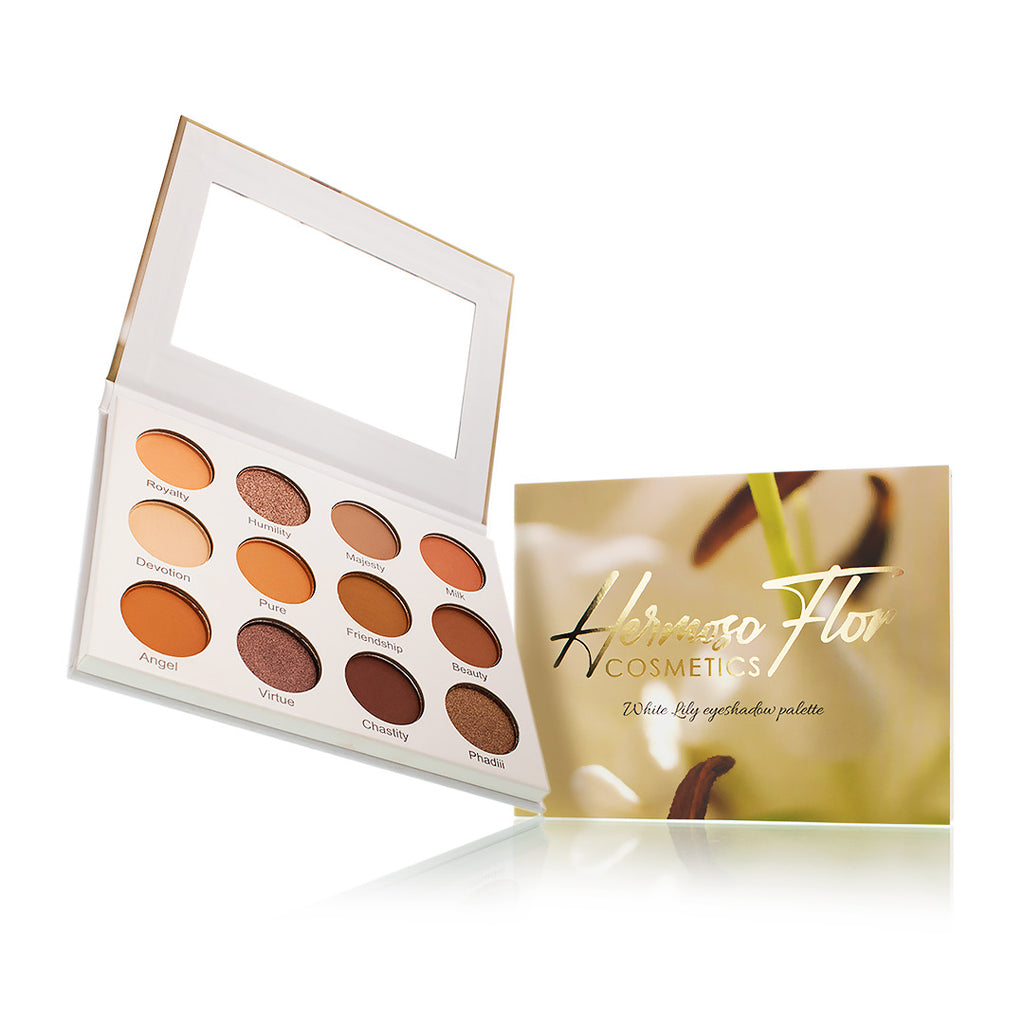 White Lily and Violet Eyeshadow Palette set