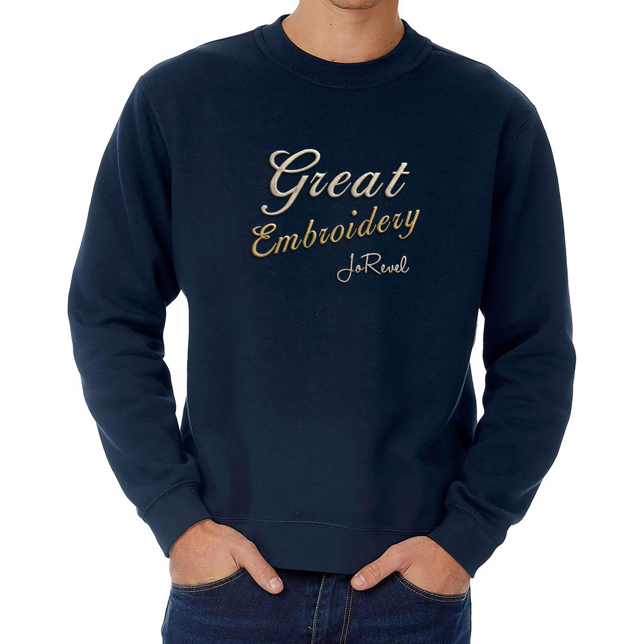 Store Embroidery JoRevel embrodert Sweatskjorte