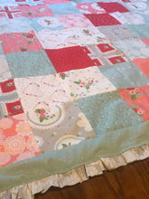 Load image into Gallery viewer, Vintage/Shabby Chic Toddler/Baby Blanket