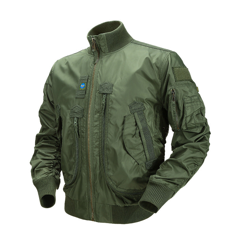 Fourth-generation tactical windbreaker  military green flight-suit jacket