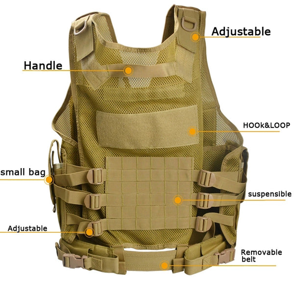 Good Quality  t Hunting Vest With Molle&Mesh System