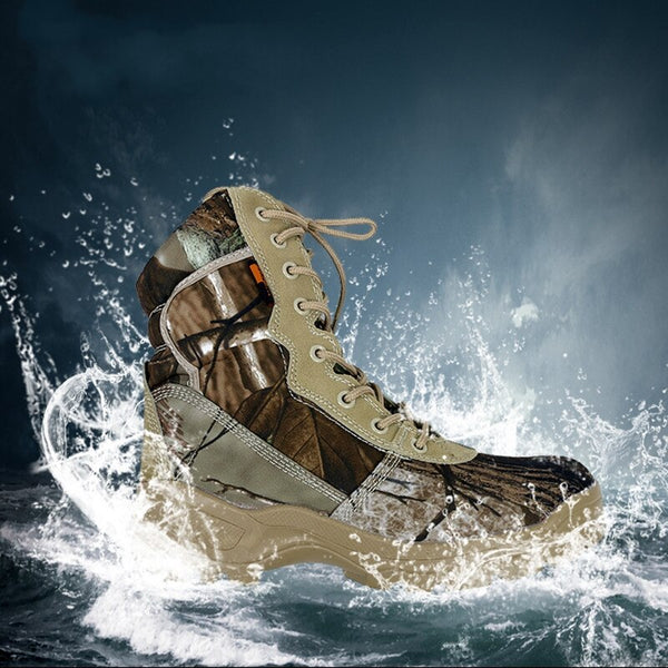 Men's Waterproof Camouflage Hunting Set Boots Military Tactical Boots
