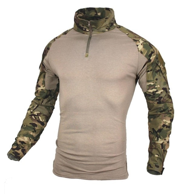 Big Size S-5XL Men Military Shirts Combat Uniform