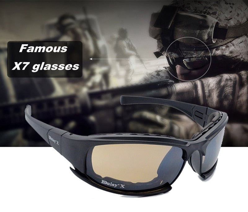 Tactical  Glasses Military Goggles Army Sunglasses With 4 Lens Original