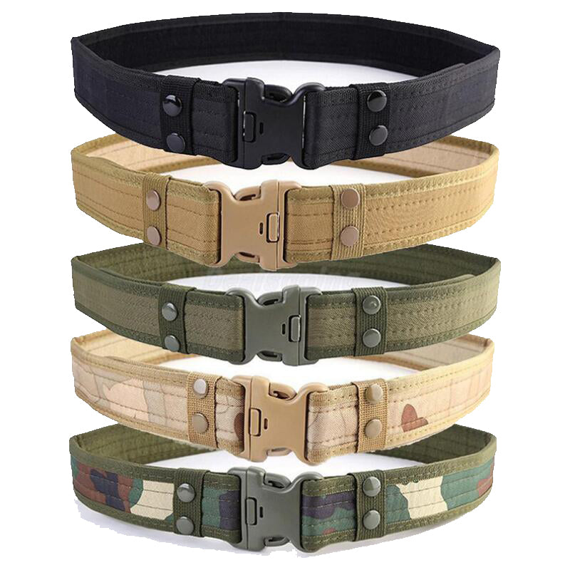 Combat 2 Inch Canvas Duty Tactical Sport Belt with Plastic Buckle