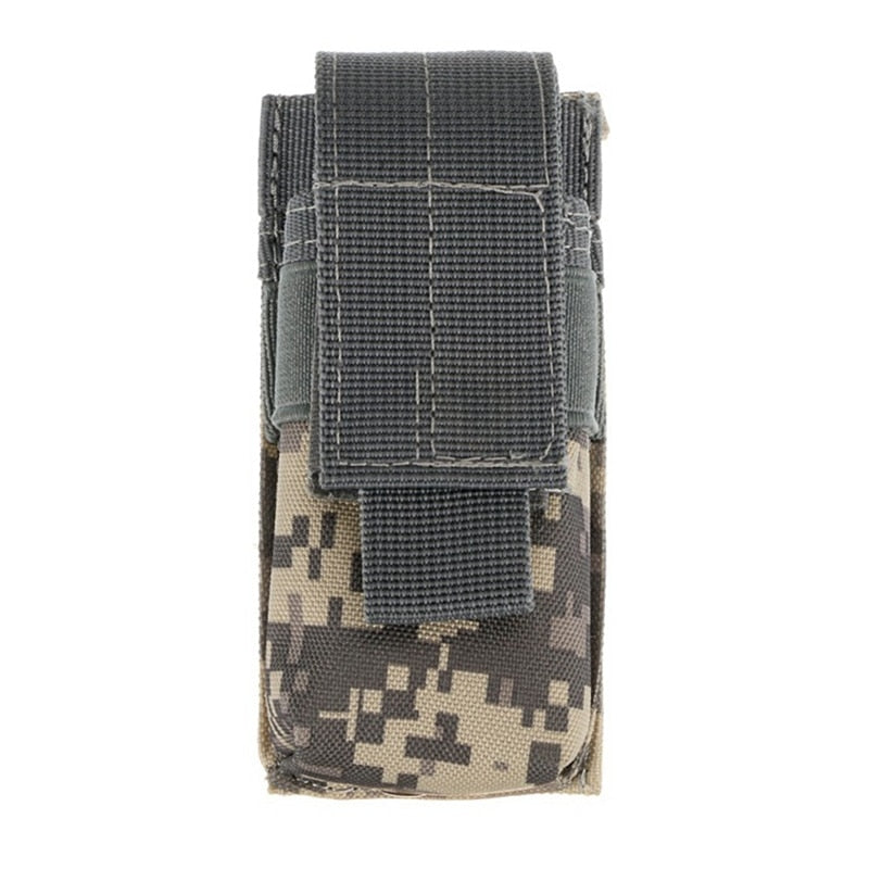 CQC Molle Tactical M5 Flashlight Pouch Single Pistol Magazine Pouch
