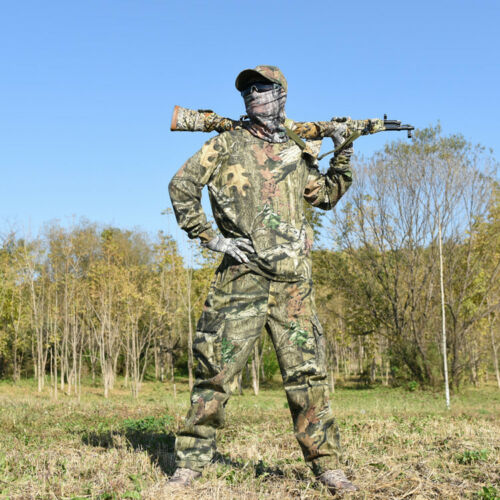 Bionic Camouflage Ghillie Suits Cotton Hunting T-shirt Pants Set