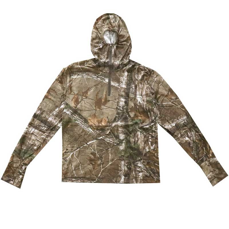 Men  Sunscreen Bionic Camouflage Long-sleeved Cotton T-shirt