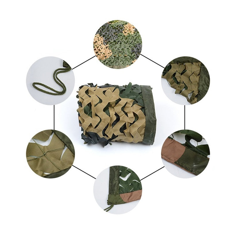 Green Desert Black Trichromatic Camo Netting Camouflage Net