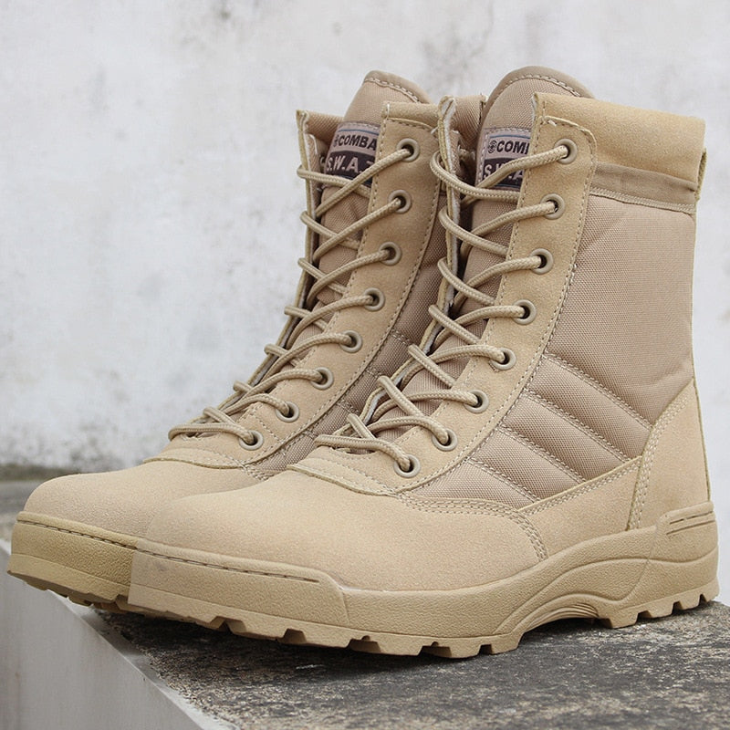 Army Boot  Men Desert Tactical Military Boots Mens Work Safty Shoes Zapatos