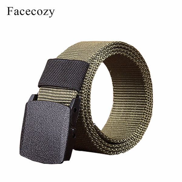 Facecozy Men Outdoor Canvas Belt Hiking Camping Safety Waist Support Hunting Sports Wear