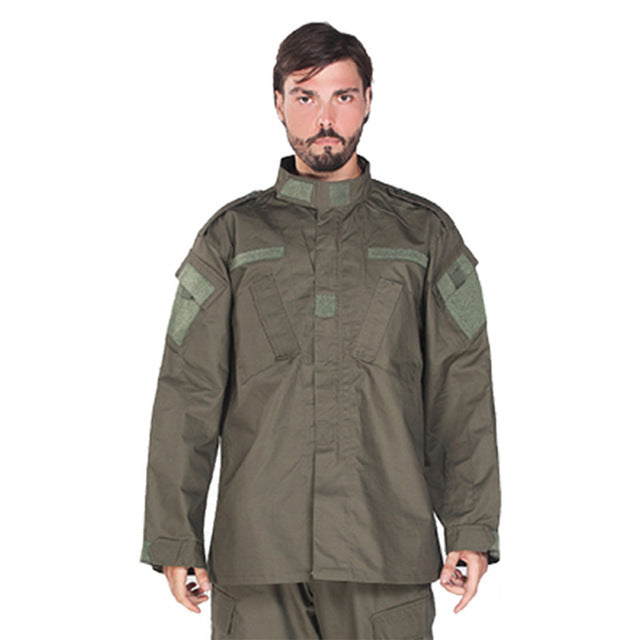 WW2 Security Team Army Suit Man Military Uniform Combat Jacket+pants with Pocket