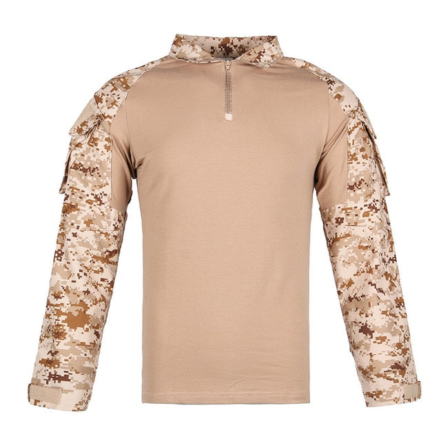 11Color Men Combat Shirt Tactical  Special Forces Camouflage Clothing