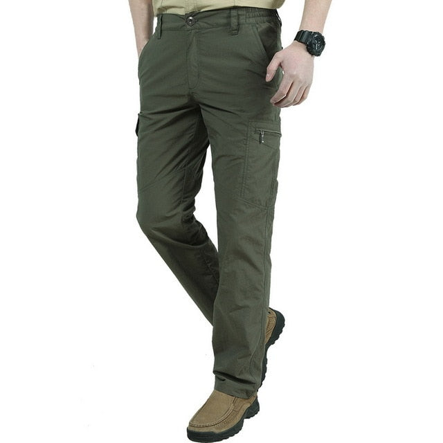 Men's Tactical Pants Casual Autumn Lightweight Water-Resistant Hiking Trousers