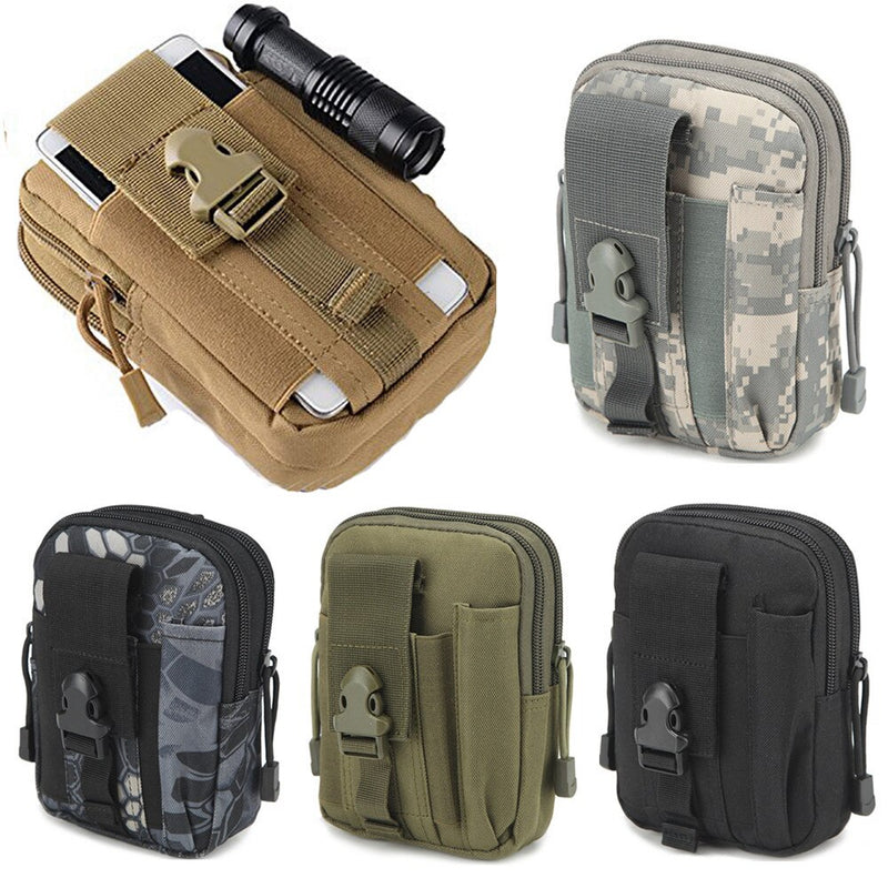 Men Tactical Molle Pouch Belt Waist Pack Bag