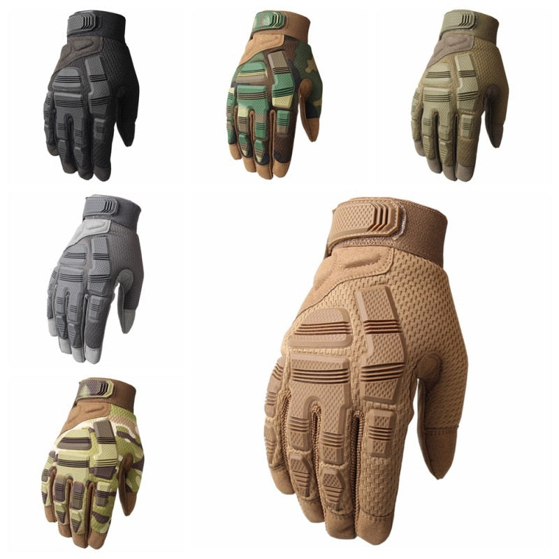 Outdoor Sports Tactical Gloves Non-slip Rubber Protection Mittens