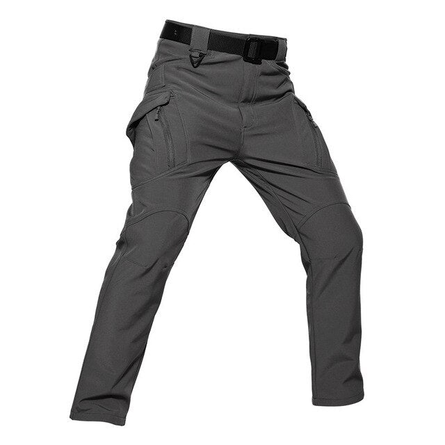 Military Men Tactical Fleece Pants Men's Army Cargo Pants