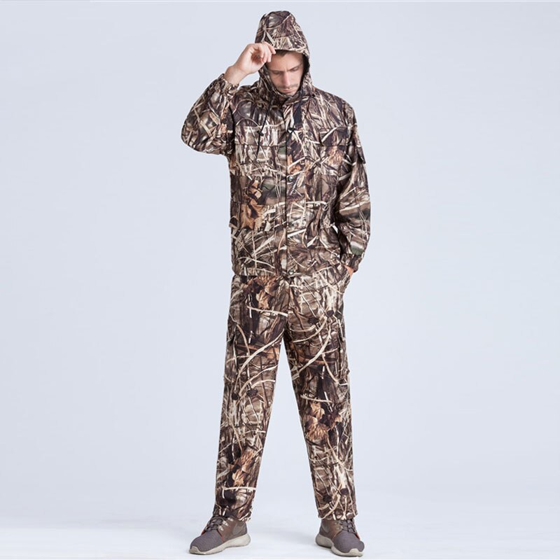 Hunting Military Men Bionic Camouflage Ghillie Suits Reed Camo Clothes