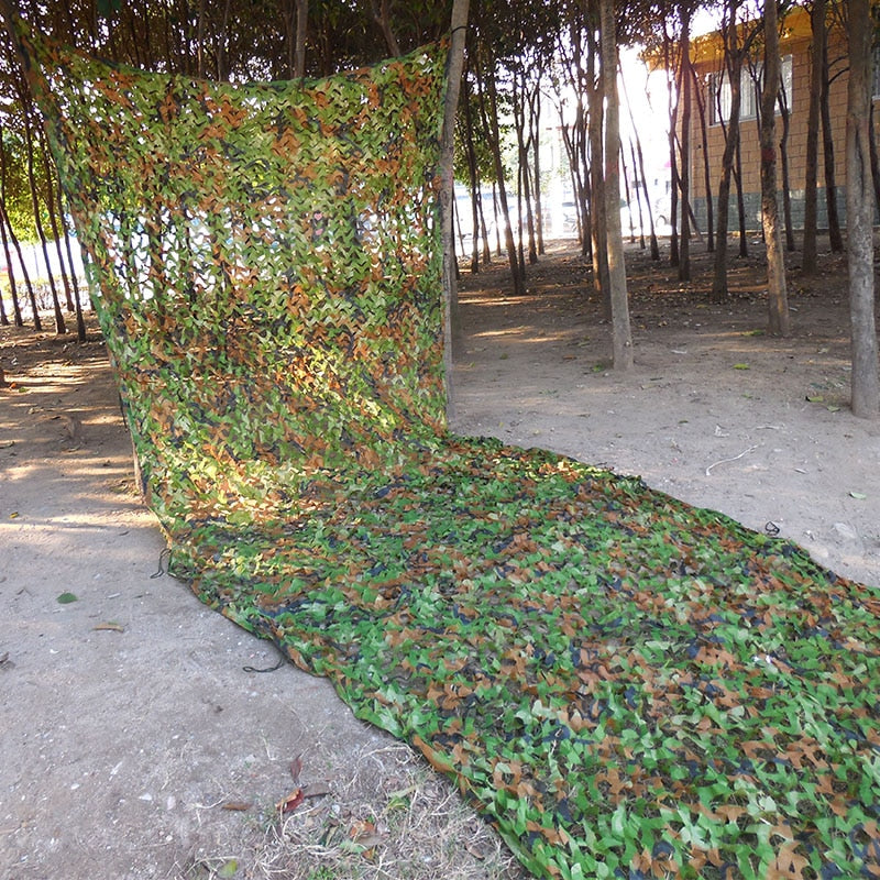 3x5m Military Woodland Leaves Camouflage Net