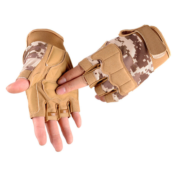Army Military Tactical Half finger Bicycle Glove Camouflage