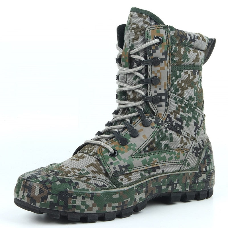 Special Troops Mountain Camouflage Tactical Boots