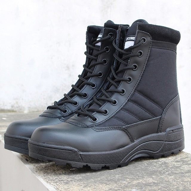 Men desert military tactical boots  waterproof hiking shoes