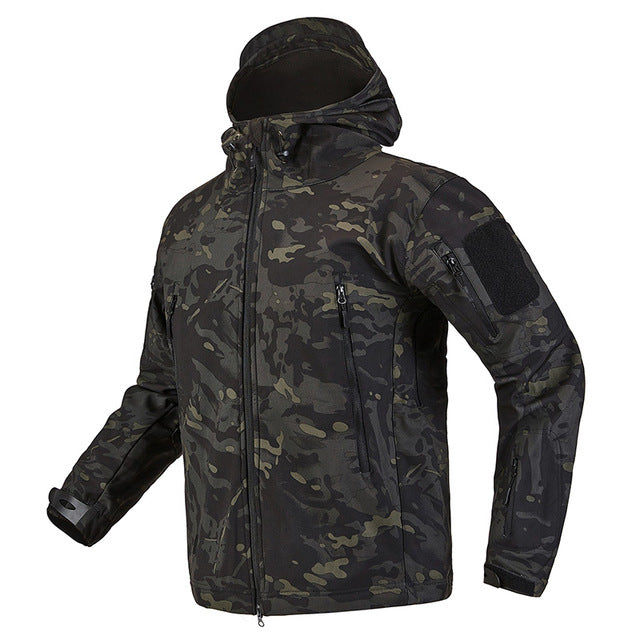 Waterproof Tactical Military Jacket Shark Skin Soft Shell  Men Fleece