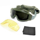 Hot Sale  Windproof Tactical  Goggles  Army Military Glasses With 3 Lenses