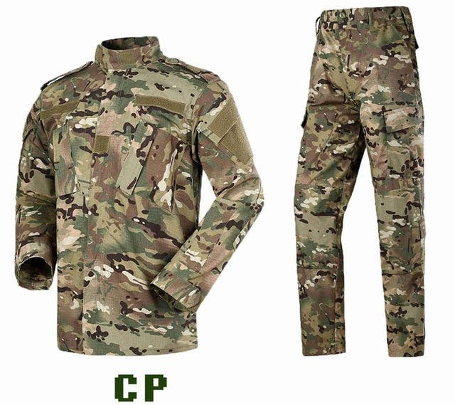 Multicam Black Military Uniform Camouflage Suit