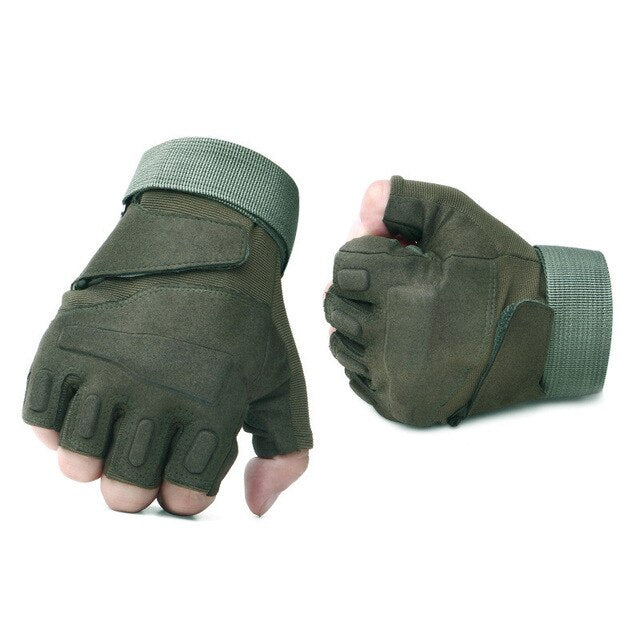 Army Tactical Fingerless Military Half Finger Gloves