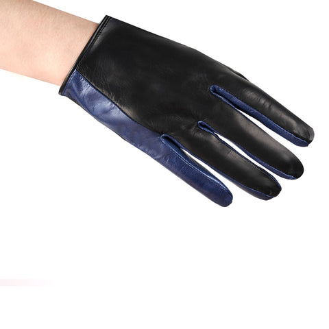 Cropped Color Block Gloves