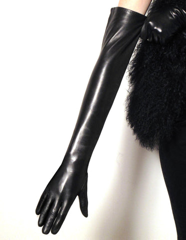 Opera Length Leather Gloves