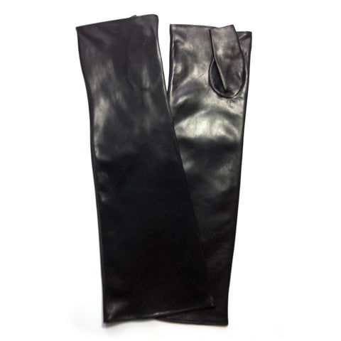 Long Leather Sleeves