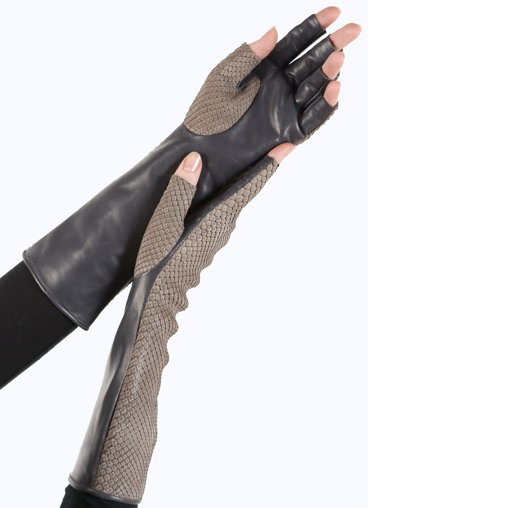 Python Fingerless Gloves