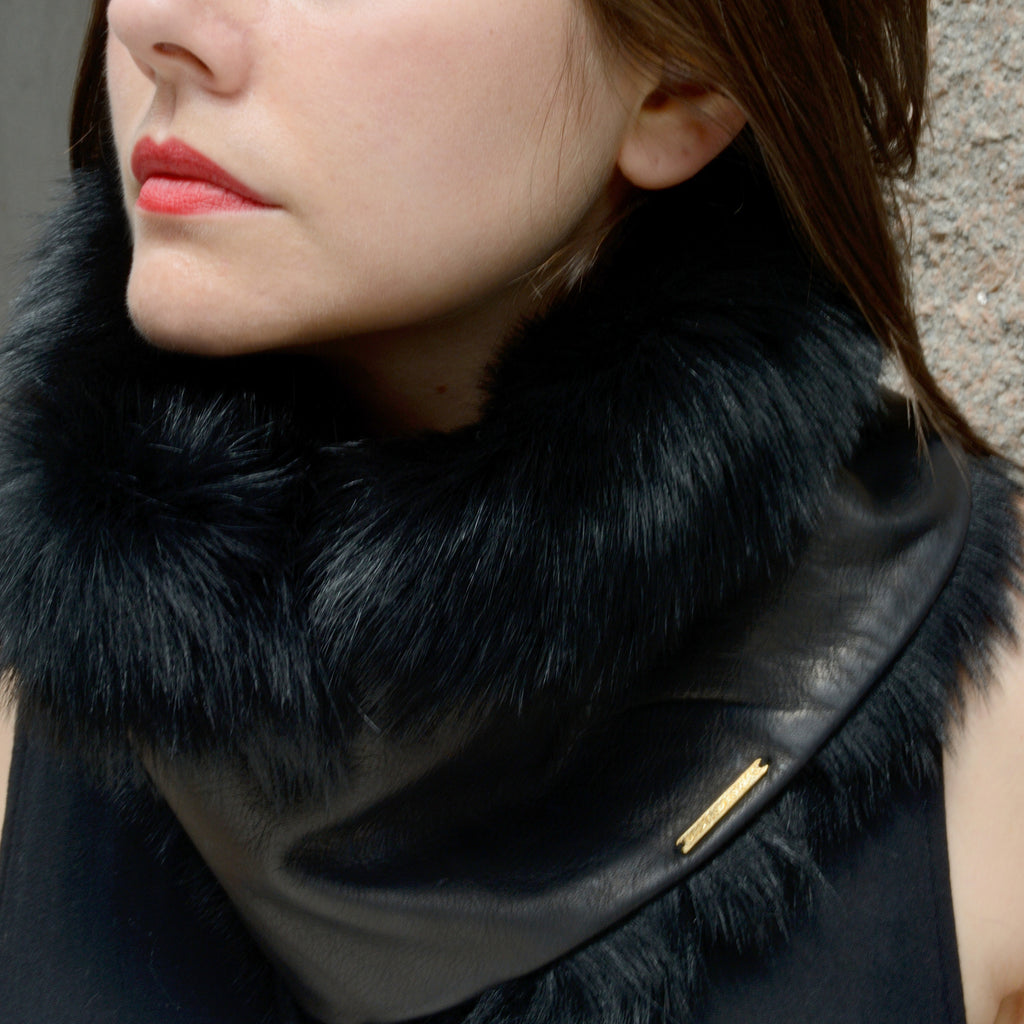 Leather Fur Cowl
