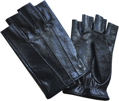Fingerless Leather Driver Glove For Men