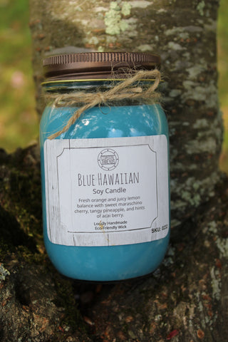 Blue Hawaiian Soy Candle