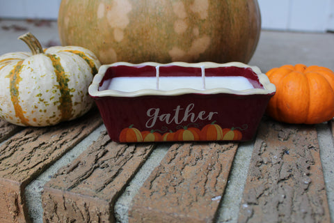 """Gather"" Cake Pan Soy Candle- Cornucopia"