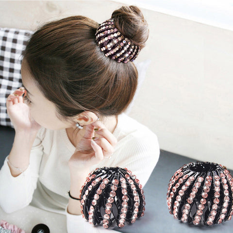Starry Crystal Bird Net Looking Hairstyling Clip, 2 Packs!