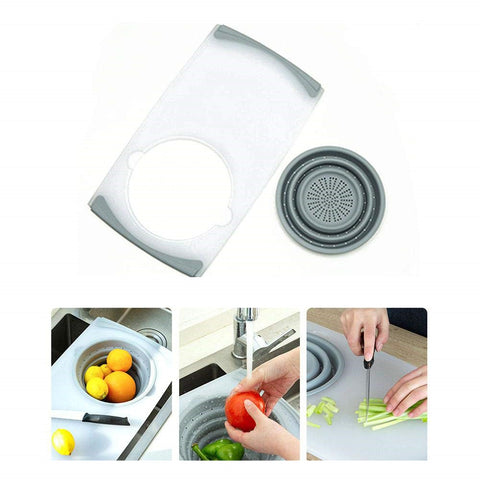 3-in-1 Food Grade Plastic Chopping Board for Cut Vegetable