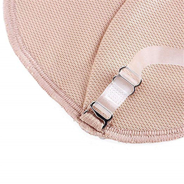 Sweat-absorbent and quick-drying transparent shoulder strap invisible underarm pad