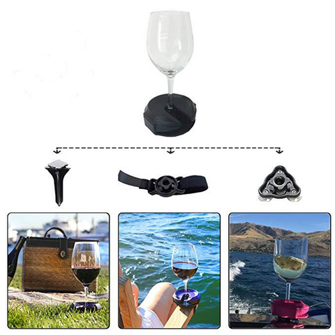 3in1 Silicone Wine Glass Holder Glass Goblet Holder