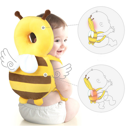 Adjustable Infant Safety Pads for Baby Walkers Protective Head Cute Small bee